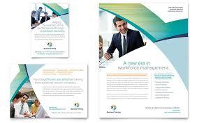 magazine ad template word business training flyer u0026 ad template design