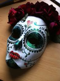 Day Of The Dead Masks Day Of The Dead Skull And Roses Hand Painted Mask Masks