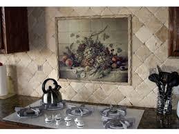 Kitchen Tile Murals Tile Art Backsplashes Astounding Model Of House Remodeling Travertine Backsplash