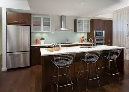tempered glass backsplash kitchen contemporary with flat panel