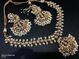 indian necklace sets images Indian traditional jewelry bollywood bridal pearl kundan necklace jpg
