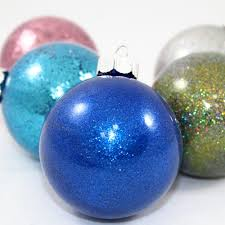 so easy 6 step pledge glitter ornaments craft e corner