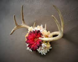 Camo Wedding Centerpieces by Deer Antler Centerpiece Camo Wedding Centerpiece By Thevinedesigns