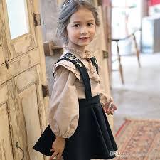 aliexpress com buy new kids girls ruffles suspender overall