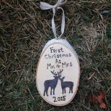 christmas ornament engagement first by jvcountrycreations on etsy