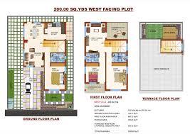 West Facing House Vastu Floor Plans Vishal Projects Vishal Sanjivini Maheshwaram Hyderabad On