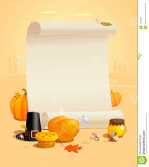 thanksgiving design with paper roll stock photography image