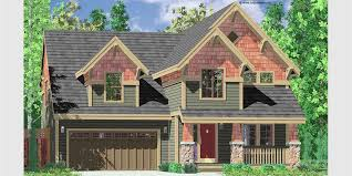 luxury home plans for narrow lots lofty idea home plans narrow lot craftsman 12 house plans building