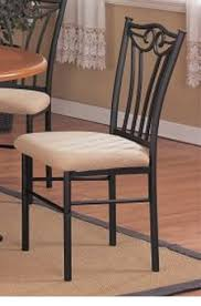 Metal Dining Chairs 2 Two Decorative Black Metal Dining Chairs With Padded