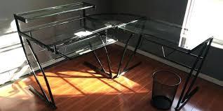 Z Line Belaire Glass L Shaped Computer Desk Z Line Belaire Glass L Shaped Computer Desk Image For Curved
