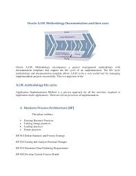 oracle a i m methodology documentation