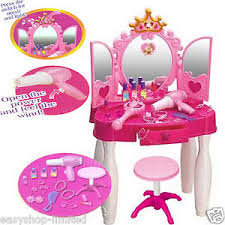 childrens dressing table mirror with lights girls princess glamour mirror dressing table beauty play set light