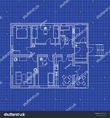 blueprint floor plan modern apartment on stock vector 399205828