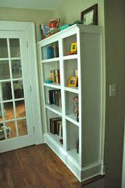 look between the lines craft project fake built in bookcase