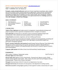 Retail Store Manager Resume Example by Sample Store Manager Resume 10 Free Documents In Pdf