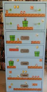94 best super mario zimmer images on pinterest super mario bros done with my mario bros dresser this is going in my sewing room