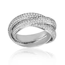 rings with pave images Three band diamond ring pave wedding promise diamond jpg