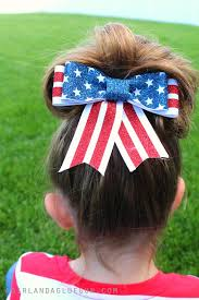 fourth of july hair bows white and blue hair bows with vinyl a girl and a glue gun