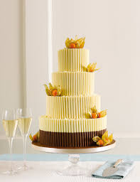 white chocolate curls wedding cake m u0026s