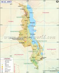 Africa Time Zone Map by Malawi Map Map Of Malawi