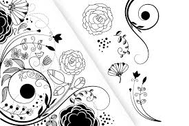 Clip Art Flowers Border - flower clip art and a floral border illustrations creative market