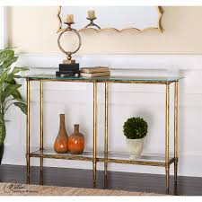 sofa tables on sale uttermost elenio bright gold console table on sale