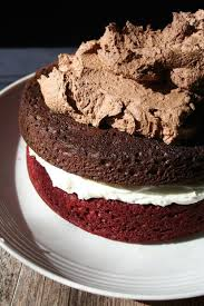 quadruple decker red velvet chocolate cake 4 steps with pictures