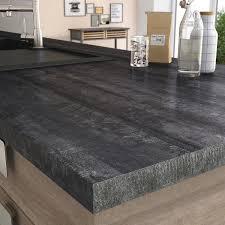 plan de travail cuisine sur mesure stratifié plan de travail stratifié vintage wood noir mat l 315 x p 65