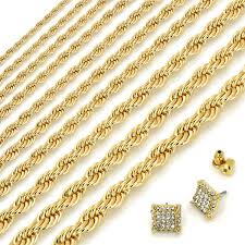 rope gold necklace images 24k gold plated rope chain necklace 30 quot inches with gold clear JPG