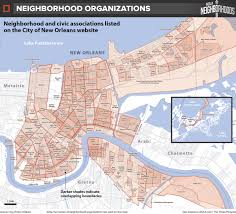 New Orleans Street Map Pdf by New Orleans Neighborhood Map My Blog