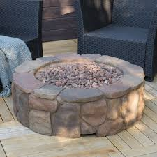 glass rocks for fire pit red ember 36 in clarksville campfire fire pit with free cover