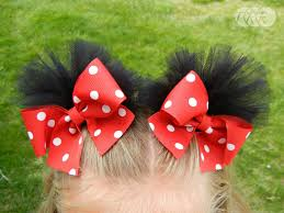 minnie mouse hair bow mouse ears puff bows the ribbon retreat