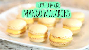 how to make mango macarons summer activity youtube