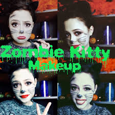 Kitty Cat Makeup For Halloween Zombie Kitty Makeup Youtube