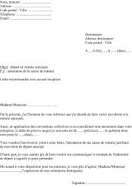 lettre de demande de fourniture de bureau modèle lettre demande départ en retraite anticipée pour employeur