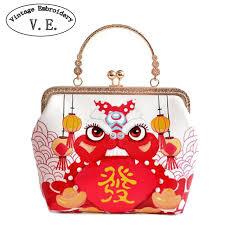 bag new year women day clutch new year lantern lion handbag chain
