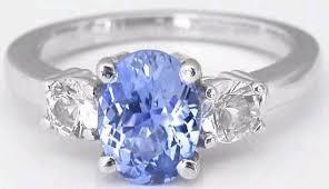 light blue sapphire engagement rings alternative engagement ring three ring design gr 5942