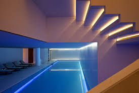 Home Lighting Systems Design by Home Interior Swimming Pool Among Decorative Lighting System