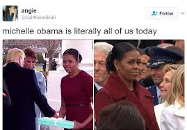 Meme Michelle Obama - michelle obama s side eye becomes instant hit online as internet