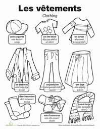 clothes in french worksheets language and clothes