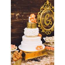 cake stand rental cake stand hammered square gold