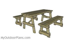 5 ft picnic table with benches plans myoutdoorplans free