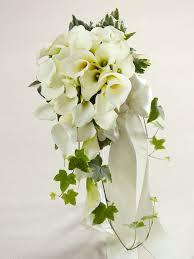 calla bouquet calla cascade bouquet