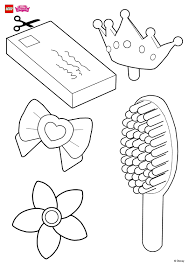 help decorate rapunzel u0027s hair accessories coloring page