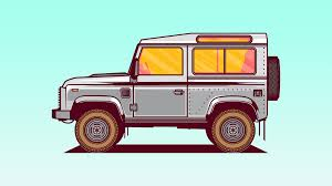 land rover defender vector vector cars u2014 musketon finger lickin u0027 good illustrations