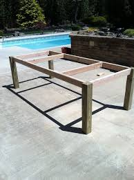 Outside Patio Furniture by Best 20 Diy Outdoor Table Ideas On Pinterest Outdoor Wood Table