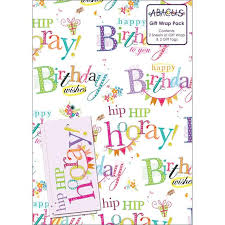 birthday gift wrap morrisons happy birthday gift wrap 2 per pack product information