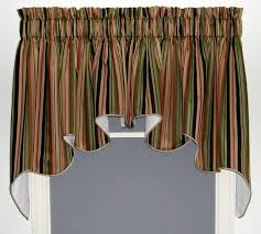 swag curtains solid patterned sheer