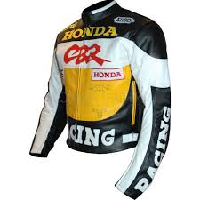 gsxr riding jacket cbr racing yellow leather motorcycle jacket