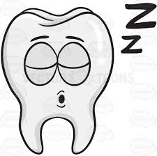 snoring tooth drifting zs cartoon clipart vector toons